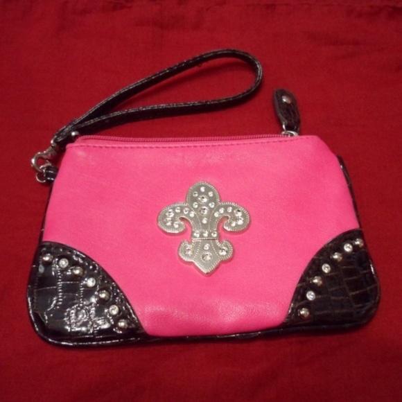 b3d9d474e Bags | Fleur De Lis Rhinestone Wristlet Wallet | Poshmark